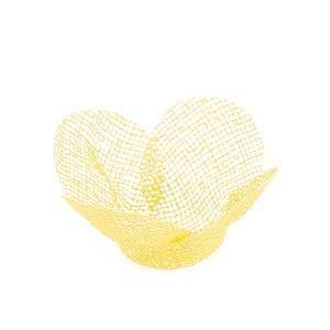 Forminhas para doces Tela Flor - amarela