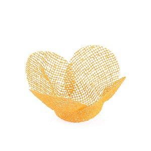 Forminhas para doces Tela Flor - amarelo gema