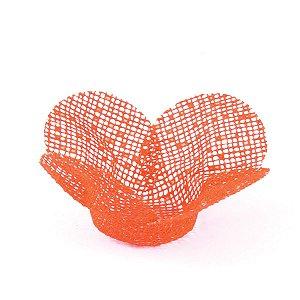 Forminhas para doces Tela Flor - laranja