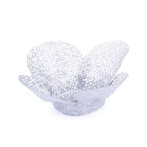 Forminhas para doces Tela Flor - prata