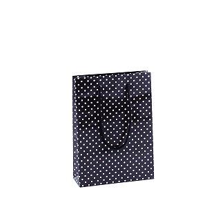 Sacola de papel plastificada estampada 17X23,5X6cm