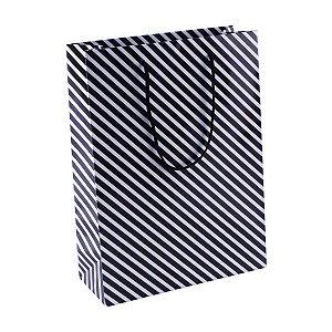 Sacola de papel plastificada estampada 25X34X10cm