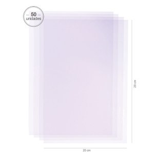 Saco transparente 20X29 cm - 50 unid.