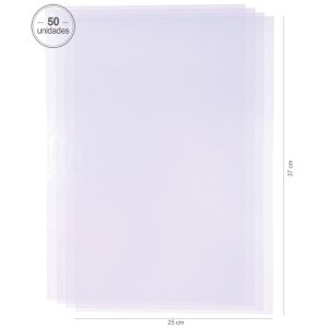 Saco transparente 25X37 cm - 50 unid.