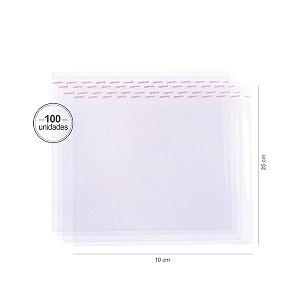 Saco transparente c/ aba adesiva 25X35cm - 100 unid. - Cromus
