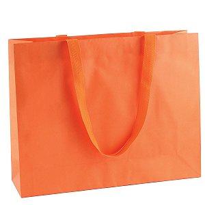 Sacola de papel colorida 43X34X12cm - laranja