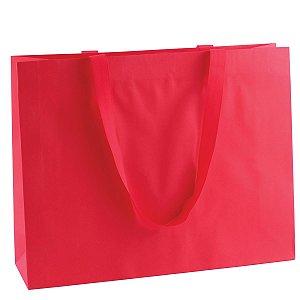 Sacola de papel colorida 43X34X12cm - vermelha