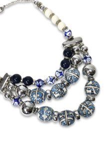 Max colar azul e branco 3 em 1
