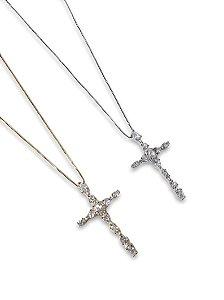 Colar cruz zircônia