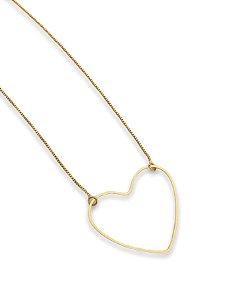 Colar dourado coração