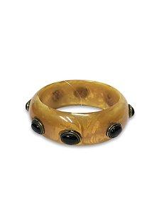 Bracelete detalhes resina oval