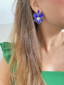 Flor esmaltada detalhe zirconia