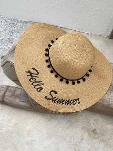 Chapéu palha hello summer