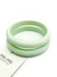 Bracelete kit 2 pulseiras verde seco