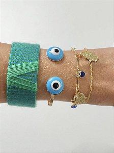 Bracelete aberto olho