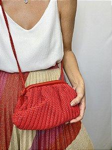 Bolsa tressê vermelha
