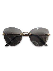 Óculos lente escura com detalhes dourado