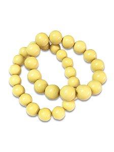 Pulseira bolas amarela