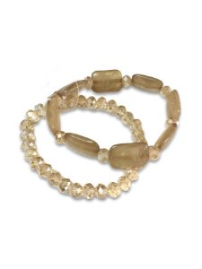 Kit pulseira cristais com placas resina