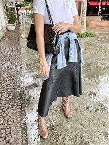 Bolsa matelassê couro legítimo