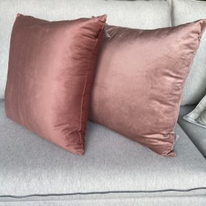 Duo de almofadas rose