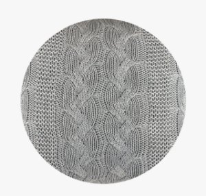 Manta De Tricô Cinza Decorativa Decortextil Super Conforto