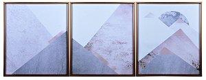 Trio de Quadros Abstrato
