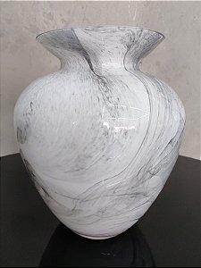 Vaso de Vidro Marmorizado