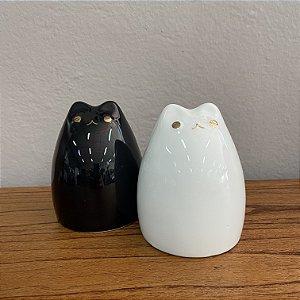 Gato em cerâmica branco
