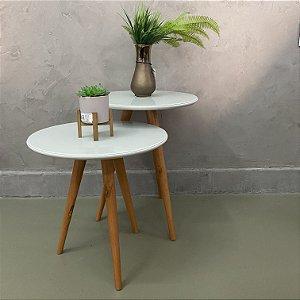 Conjunto mesa lateral offwhite