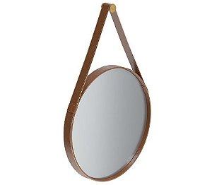 Espelho Decorativo Imcal Moldura Redonda e Alça Com Suporte