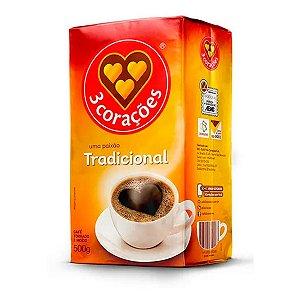 CAFE MOIDO 3 CORACOES 500G TRADICIONAL