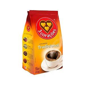 CAFE MOIDO 3 CORACOES 250G TRADICIONAL