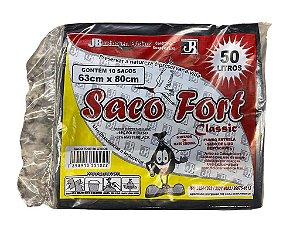 SACO LIXO SACO FORT 50L C/10UN
