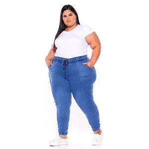 Calça Jogger Jeans Stretch Clara Plus Size 44 ao 70 - 3240