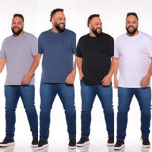 Kit 4 Camisetas Básicas Masculina  Pluz Size XP AO G5