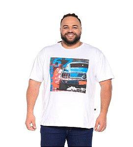 Camiseta Masculina Estampada Opala 67 Branca Plus Size XP ao G5