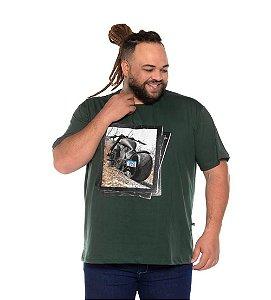 Camiseta Masculina Estampada Onnox Moto Verde Plus Size XP ao G5