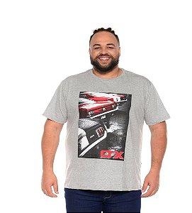 Camiseta Masculina Estampada Onnox Opala Cinza Plus Size XP ao G5