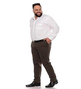 Calça Masculina Social Esporte Fino Marrom Plus Size 50 ao 78 2080