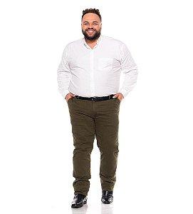 Calça Masculina Social Esporte Fino Verde Musgo Plus Size 50 ao 78 2080