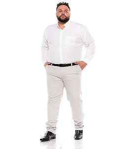 Calça Masculina Social Esporte Fino Cinza Claro Plus Size 50 ao 78 2080