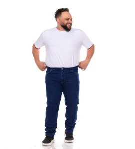 Calça Jeans Stretch Masculina Stone Used C/ Corrosão Plus Size 50 ao 78 2072