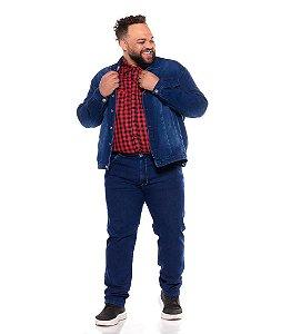 Jaqueta Masculina Moleton Jeans C/ Elastano Stone Used Plus Size 2211