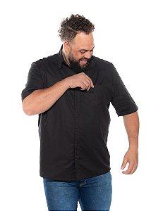 Camisa Tricoline com Elastano Masculina  Preta XP ao G5 2950