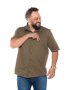Camisa Tricoline com Elastano Masculina  Verde XP ao G5 2950