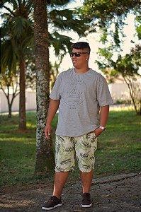 Bermuda de Sarja Masculina Estampada 05 Plus Size 50 ao 78 2023
