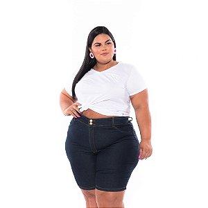 Bermuda Ciclista Jeans Lavagem Amaciada Feminina Plus Size 46 ao 66  3193