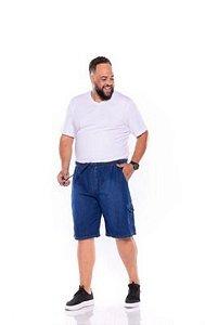 Bermuda Jeans Masculina com Elástico Plus Size  XP ao G5 1427