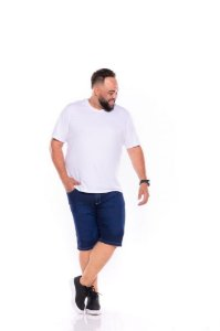 Bermuda Jeans Masculina Stretch stone used Plus Size 66 ao 78 2062